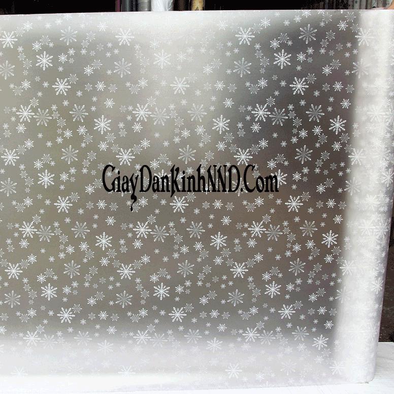 giấy dán kính hình  bông tuyết trắng